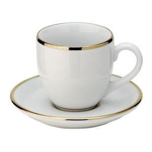 Tasse et sous-tasse liseré or